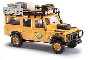 Busch-50373-1-87-H0-Land-Rover-Defender-034-Camel-Trophy-034-Allemagne-Neuf