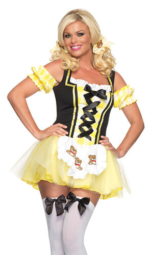 Leg Avenue 83636 M//L S//M Adult Women/'s Size XS Lil/' Miss Goldilocks Costume