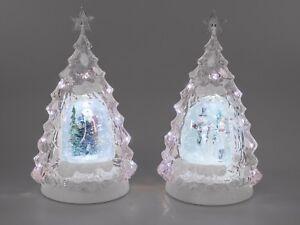 Tanne Baum Beleuchtet Aus Acryl Mit Licht Und Wasser 32cm Formano