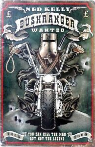 NED-KELLY-BUSHRANGER-WANTED-ALL-WEATHER-Metal-tin-Sign