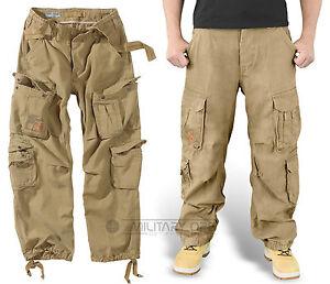 combattimento chiaro marrone Pantalone di di Carpa vintage pantaloni in aviotrasportato chiaro marrone eccedenza coyote da wzPAOaw