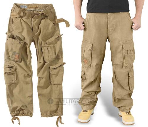 di chiaro aviotrasportato di eccedenza Carpa in marrone chiaro coyote pantaloni da Pantalone combattimento marrone vintage IgwnqFxCC