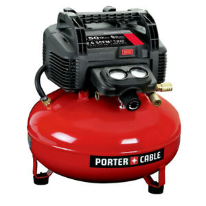 Porter-Cable-0-8-HP-6-Gallon-Oil-Free-Pancake-Air-Compressor-C2002-New