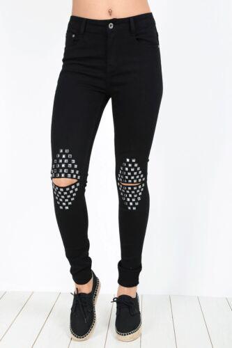 Donne Ragazze Elasticizzato Skinny Fit Leggings Jeggings Jeans in Denim Taglie Forti UK 8-22