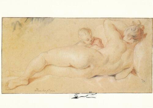 1752 Boucher Venus und Amor Postkarte