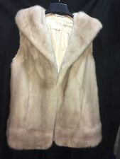 Ivory,Beige,Off White, Mink Fur Vest Coat Jacket Ladies L,XL 12,14,16