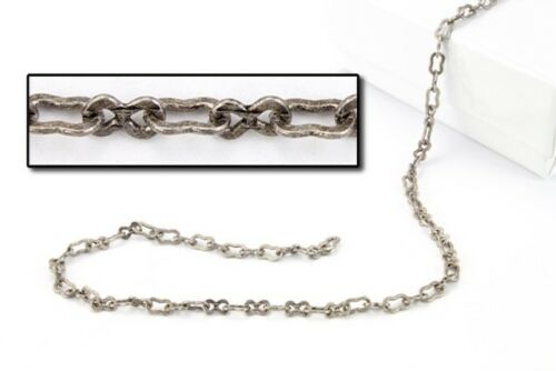 Antique Silver 2mm x 4mm Peanut Chain #CC150