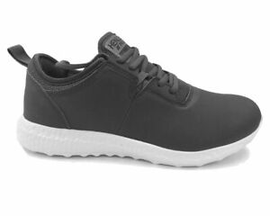 dab4ddc4c92 Details about Henleys Project DLX HX350 Runner Mens Trainers Charcoal *Sale*