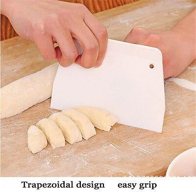 Useful Pastry Dough Scraper Cutter Plastic Baking Cake Decorating Kitchen Tool