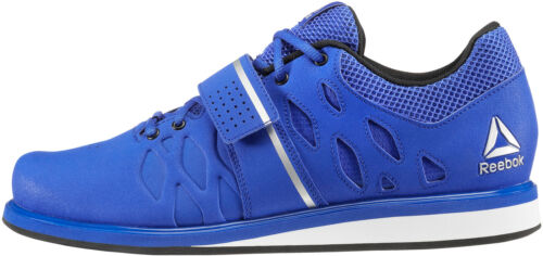 Reebok Lifter PR Mens Weightlifting Shoes Blue Bodybuilding Boots Gym Training