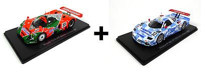 Sammlung von 4 Modellautos 24h Le Mans 1:43 Spark Miniatur Auto Dieacast LM33