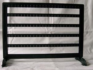 earring rack holds 60 pair double bar necklace rack jewelry organizer OAK display Earring holder organizer Jewelry rack