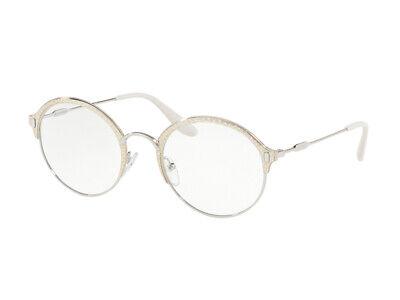 Montatura Occhiali Da Vista Prada Autentici Pr 54vv Argento 2721o1 Metallo Crease-Resistenza