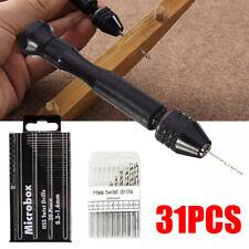 1Pcs Mini 0.3mm-3.4mm Aluminum Alloy Hand Twist Drill with Keyless Chuck Tools