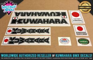 100/% Factory Correct! Kuwahara LASERLITE BMX Frame Decal Set 83-85 Black