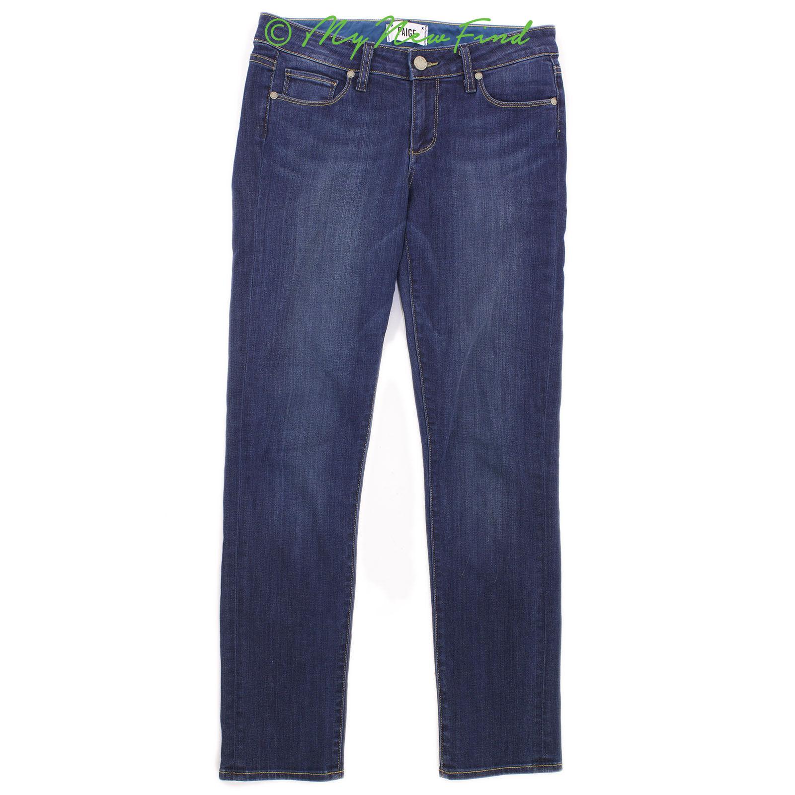 Paige Denim Hoxton Jeans Size 27 Ultra Skinny Skyline Ankle Peg Dark bluee  B41