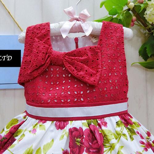 Vestito Bambina Abito Estate Principessa Rose Girl Summer Princess Dress DG0030