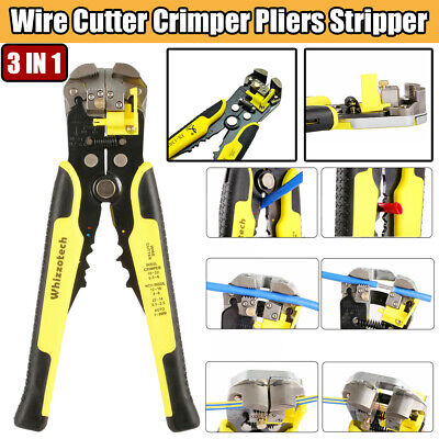 3 IN 1 Self-Adjusting Insulation Cable Wire Cutter Crimper Pliers Stripper Tool