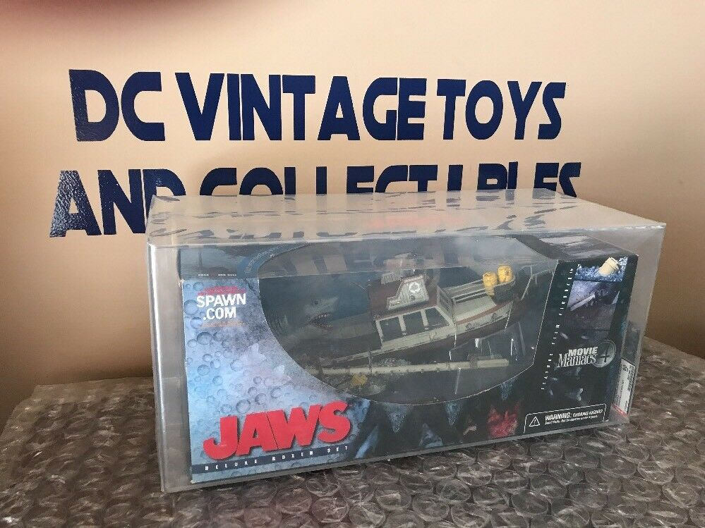 JAWS McFarlane Toys Deluxe Box Set - Movie Maniacs 4 - New, Sealed, AFA 80 80 90