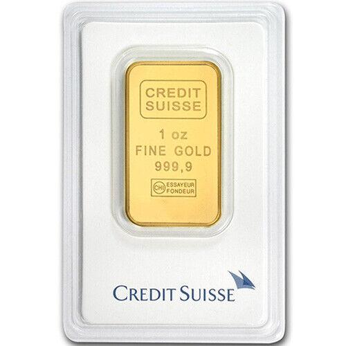 New w// Assay 1 oz Credit Suisse Gold Bar