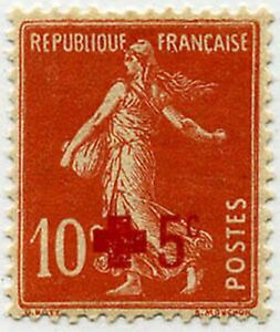 FRANCE-STAMP-TIMBRE-146-034-CROIX-ROUGE-SEMEUSE-FOND-PLEIN-5c-S-10c-034-NEUF-x-TB