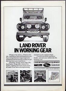 land rover parts & accessories mid 1980s uk market leaflet sales