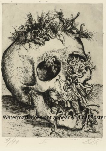 WWI Poster SCULL Otto Dix WW1 realism World War art print Dead soldier old paint