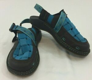 Chaco-Paradox-Sandals-Clogs-Mary-Jane-Woven-Womens-Shoes-Brown-Blue-Sz-6