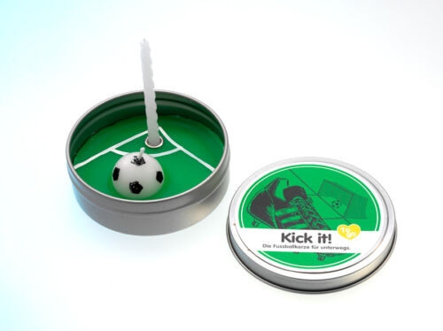 Donkey Products Kerze to Go Paraffin Fussball (Kick It)