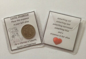Image is loading Lucky-Sixpence-Gift-for-the-Bride-Wedding-Day-
