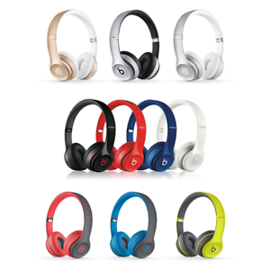 Beats-by-Dre-Solo-2-WIRED-WIRELESS-On-Ear-Headphones-BLACK-ROSE-GOLD-RED-WHITE
