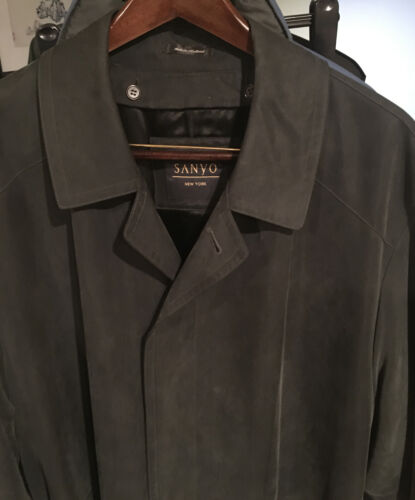 Sanyo New York men's trench coat / rain coat - Nav