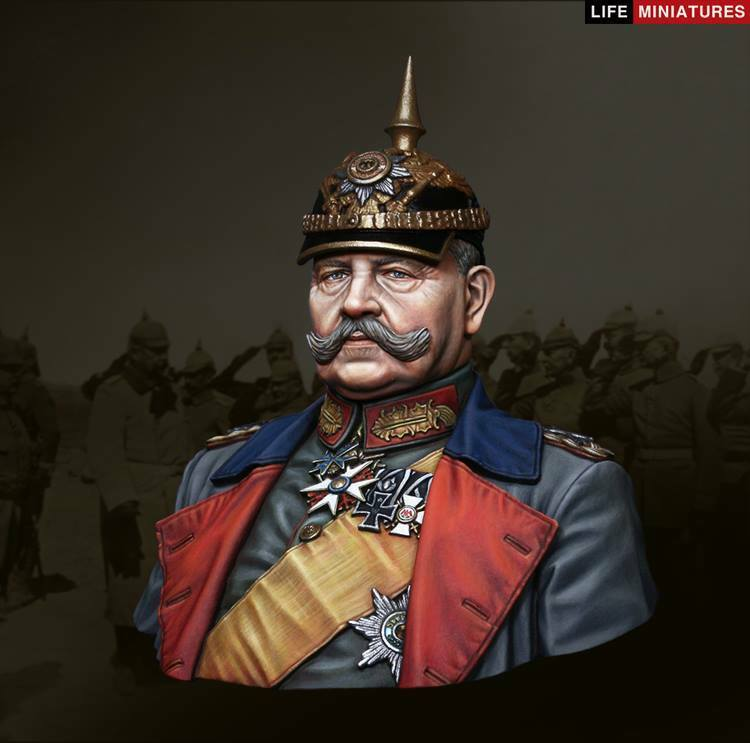 Life Miniatures General Paul von Hindenburg WW1 1 10th Bust Unpainted kit