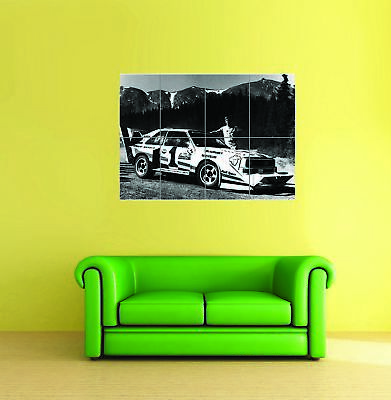 Audi Quatro Sports Rally Old Car Automobile Giant Wall New Poster Print