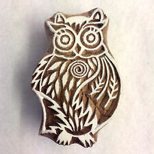 Hand-carved Indian Woodblock Stamp - Big Owl
