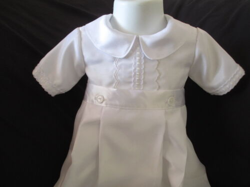 Boys Silk Shantung  Christening Gown//Romper Baptism Convertible Outfit  0-12M