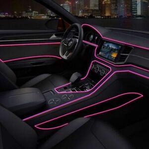 200cm-Rosa-coche-LED-el-alambre-ambiente-interior-Tira-de-Luz-Lampara-De-Neon-Glow-Decoracion