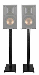 "Details about Black 10"" Steel Bookshelf Speaker Stands For Klipsch R-10M  Bookshelf Speakers"