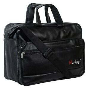 NVS 18 Inch Artificial Leather Laptop Messenger Bag For Unisex