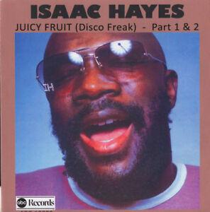 ISAAC-HAYES-Juicy-Fruit-Part-1-amp-2-ABC-RECORDS-1976-45rpm-R-amp-B-soul-pop-rock