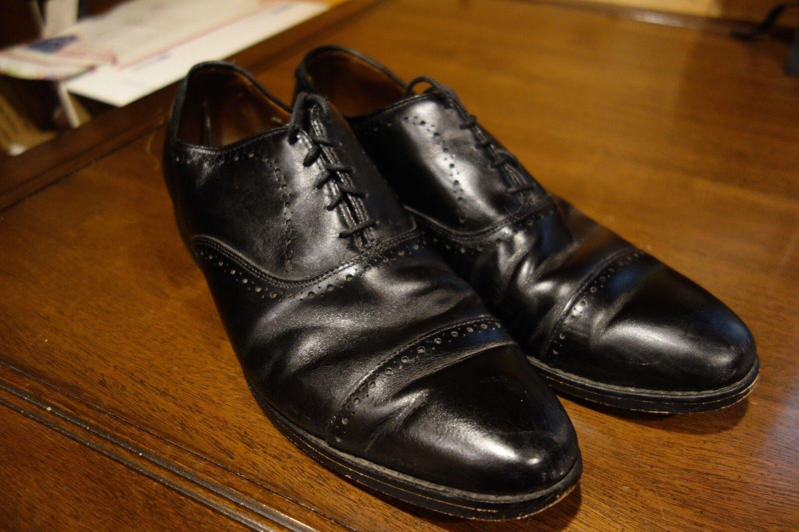 Zapatos De Vestir Allen Edmonds Hale Negro Cuero Con Cordones Cap Toe Oxford 10.5 D Usa