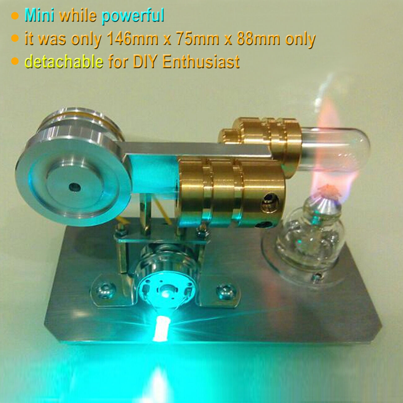 New Mini Hot Air Stirling Engine Model Toy Micro Power Generator Engine Motor