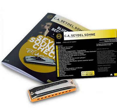 1 Mundharmonika NEU Seydel Söhne Blues Beginner Pack Soundcheck Vol C.A
