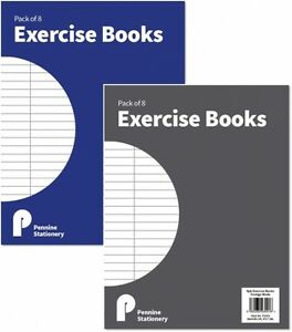 A5 Exercise Books Ruled and Margin 54gms Classroom School College - Pack of 6