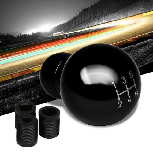 Universal Black 5-Speed Manual Transmission Aluminum Round Racing Shifter Knob