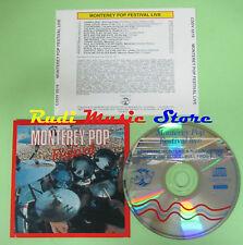 CD MONTEREY POP FESTIVAL LIVE 1991 OTIS REDDING THE WHO JIMI HENDRIX BYRDS (C3)