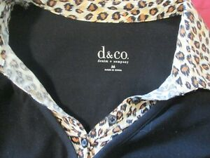 d-amp-co-Black-V-Neck-Stretch-Top-Size-M