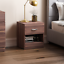 thumbnail 23 - Riano Hulio 1 2 3 Bedside Cabinet Chest Wood High Gloss Bedroom Storage Unit