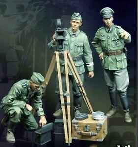 1-35-Resin-Propaganda-Team-German-3-Soldiers-Kit-Unassembled-Unpainted-BL664