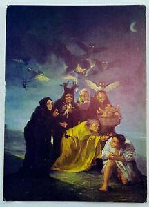 Goya-Museo-Lazaro-Madrid-Spain-Escena-de-Brujas-Witches-Scene-Museum-Postcard